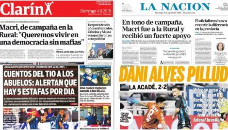 El discurso de Mauricio Macri en La Rural, en las tapas de los diarios argentinos
