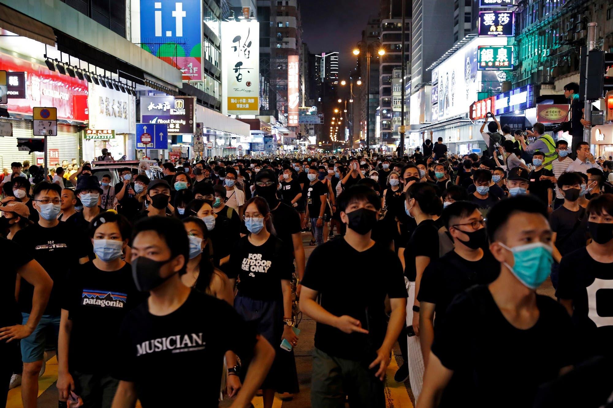 En las protestas en Hong Kong, los rostros se transformaron en armas