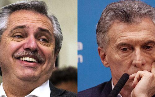 Mauricio Macri y Alberto Fernández juegan a la gallina mientras mercado se hunde