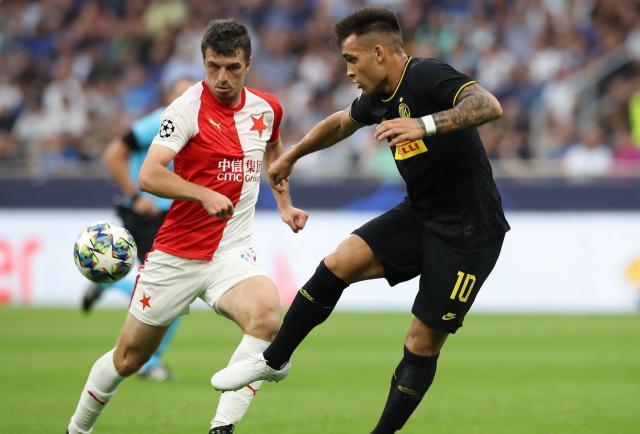Con Lautaro, Inter no pudo ante Slavia Praga en Milan