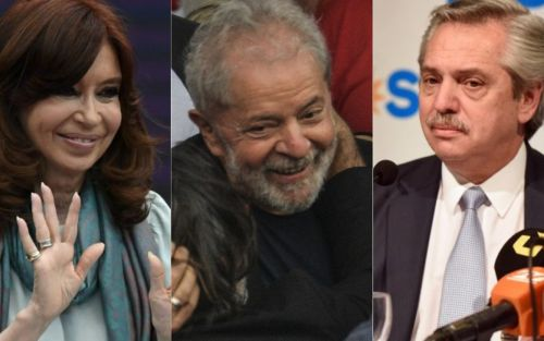 Alberto Fernández y Cristina Kirchner celebraron la libertad de Lula