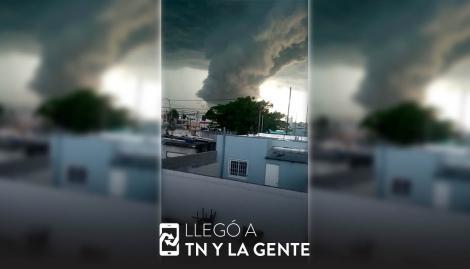 """Una imponente """"nube pared"""" pasó por Olavarría y causó temor entre los vecinos"""