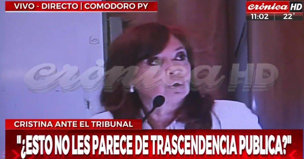 Pese a la prohibición judicial, dos canales transmitieron en vivo parte de la indagatoria a Cristina Kirchner
