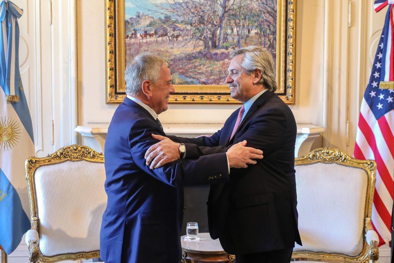 Alberto Fernández se reunió con la delegación de Estados Unidos