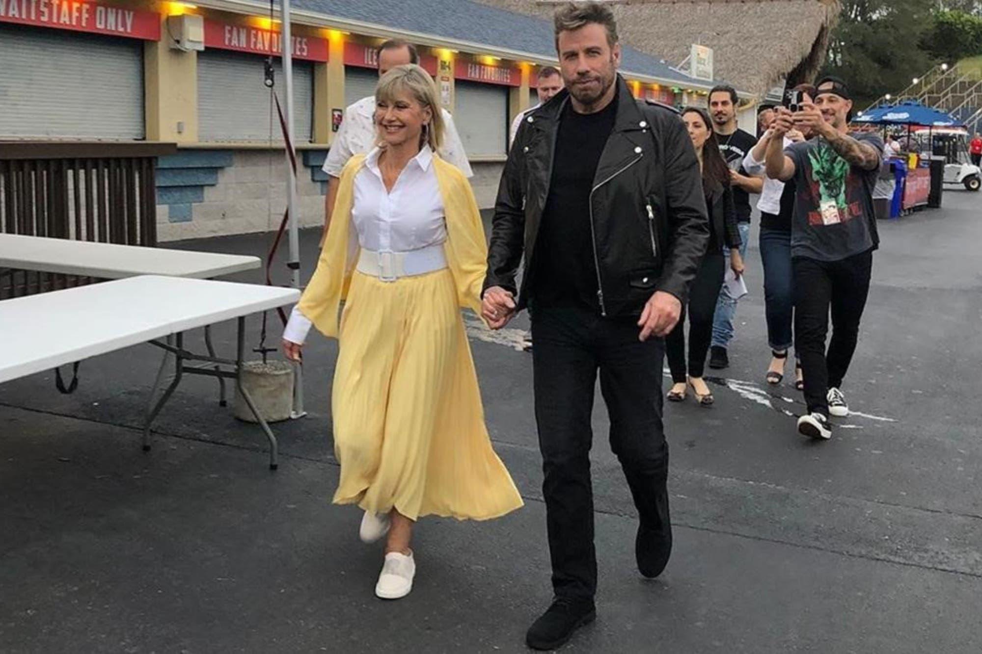 John Travolta y Olivia Newton-John volvieron a ser los protagonistas de Grease, 40 años después