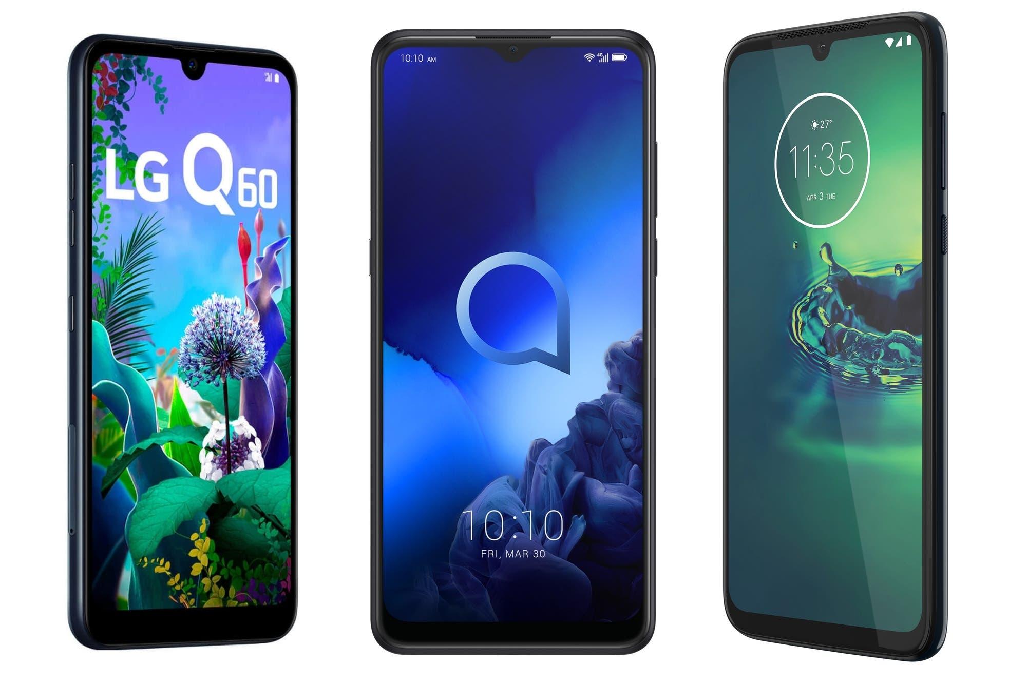 Alcatel 3x, LG Q60, Motorola Moto G8 Plus: tres smartphones de gama media para estas Fiestas