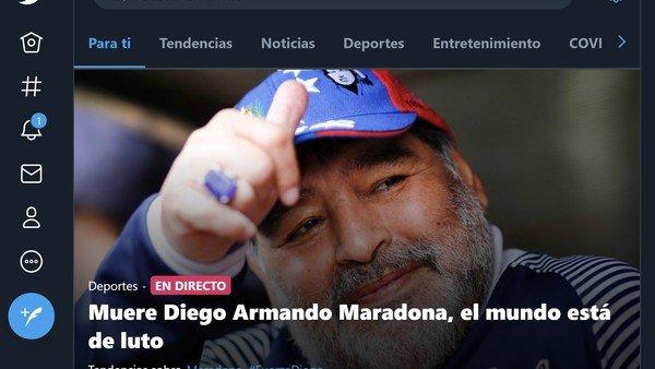 murio-diego-maradona:-el-impacto-de-la-noticia-en-twitter-a-nivel-mundial