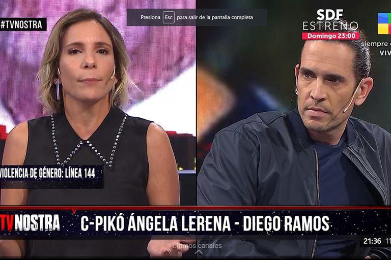 tv-nostra:-el-inesperado-cruce-entre-diego-ramos-y-angela-lerena