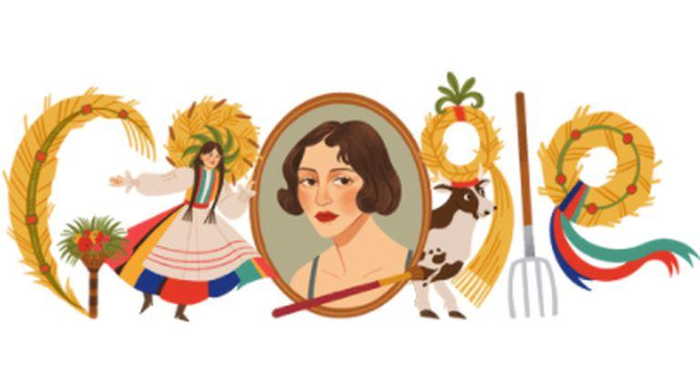 zofia-stryjenska:-el-doodle-en-homenaje-a-la-artista-polaca